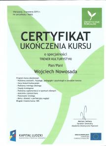 certyfikat Dietetycznie Poprawni trener kulturystyki