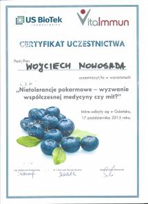 certyfikat VitaImmun Nietolerancje pokarmowe