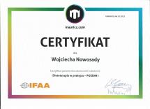 certyfikat mauricz.com MedFood DwP 1