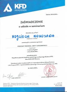 certyfikat KFD Podstawa diety i treningu